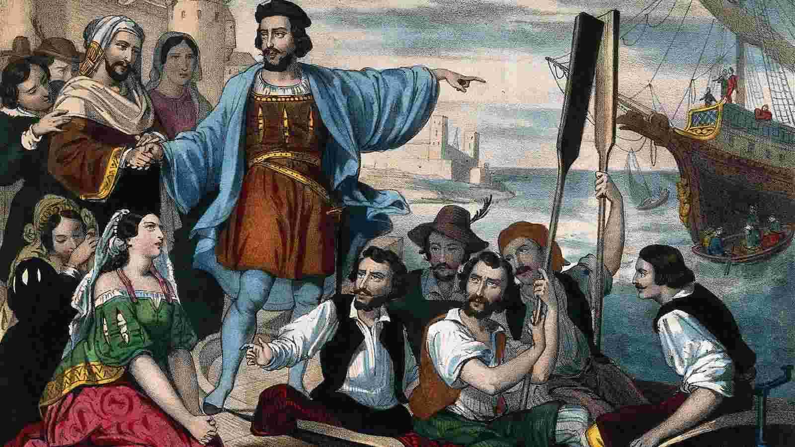 Cristóvão Colombo é considerado o descobridor das Américas, embora já fossem povoadas e já tivessem sido