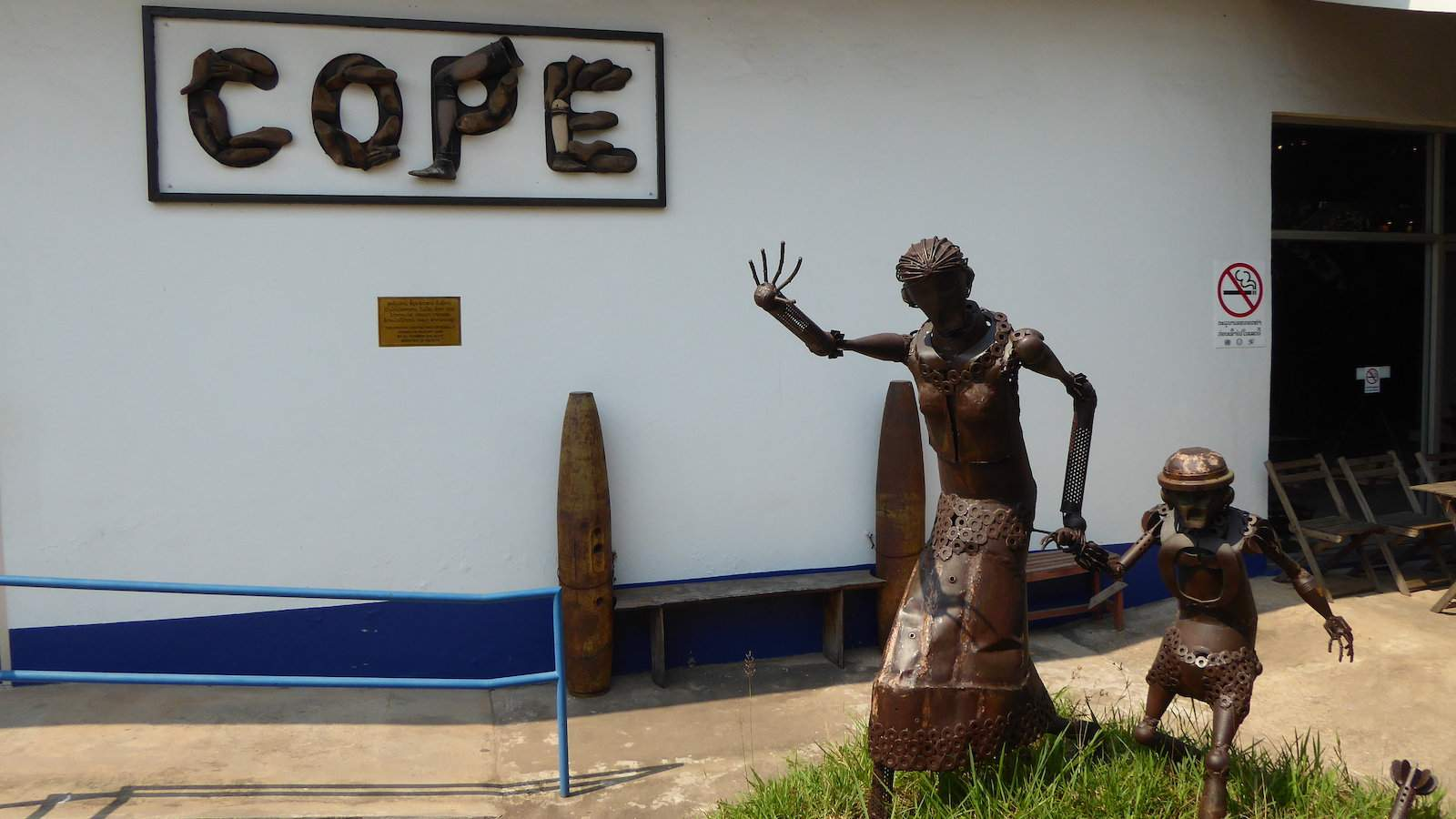 COPE is an incredible organization that helps Laotians who have lost limbs due to b๏mbs gain prosthetics