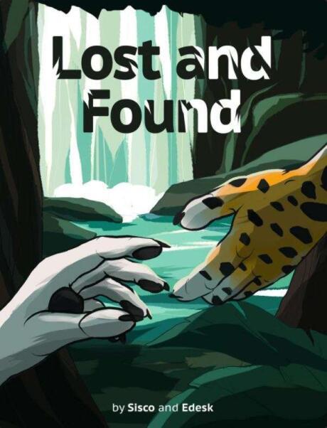 Lost and Found é um dos melhores quadrinhos gays peludos, sobre um lobo náufrago se apaixonando por um gato selvagem