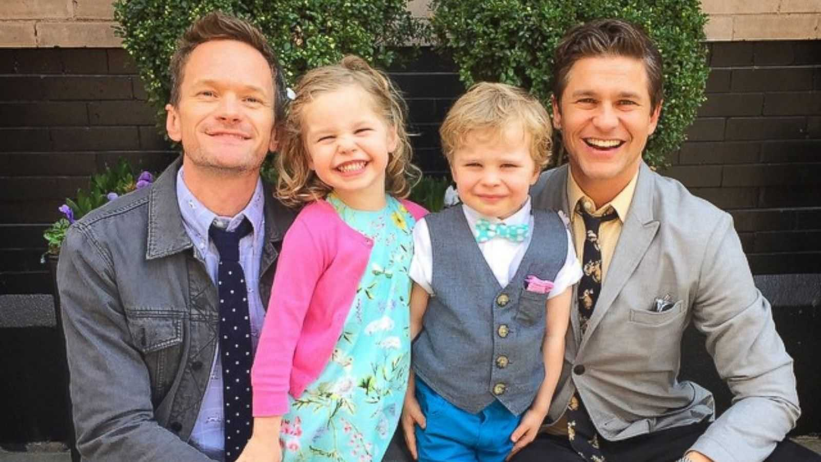 Neil Patrick-Harris is one of the most famous gay actors, with a handsome husband and adorable twin children