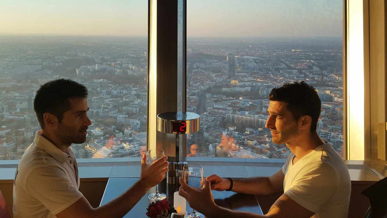 Dinner at Berlin's TV Tower overlooking the city is an incredibly romantic thing for couples to do