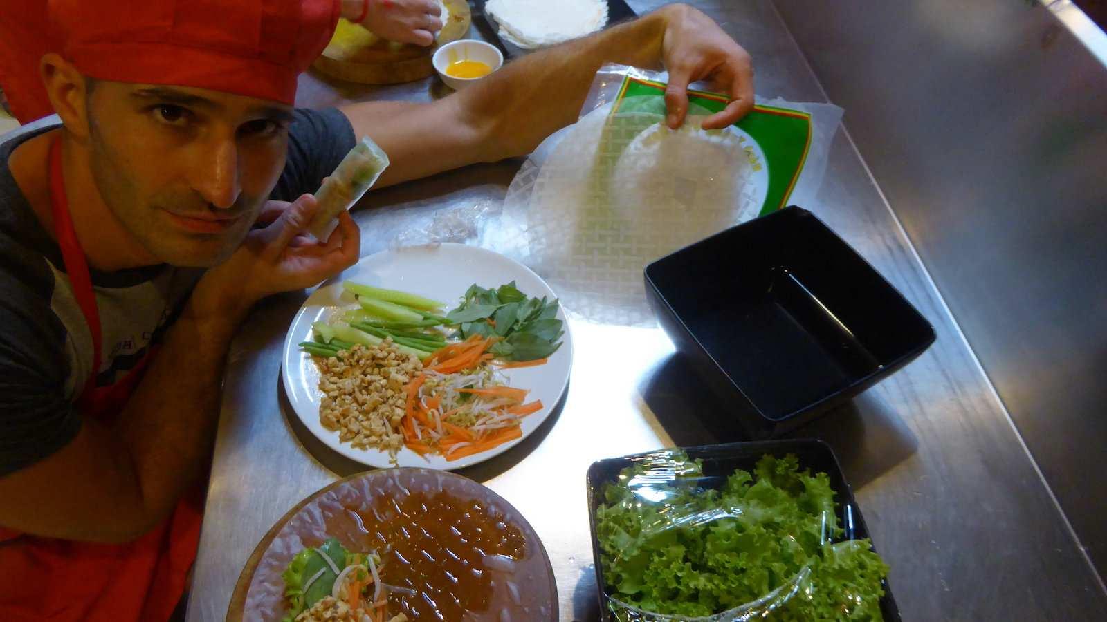 Os rolinhos primavera cambojanos são diferentes das versões chinesa e vietnamita, muito mais frescos e saudáveis e ainda saborosos!