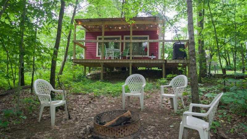 Camp Buckwood is an all-male gay campground in Indiana
