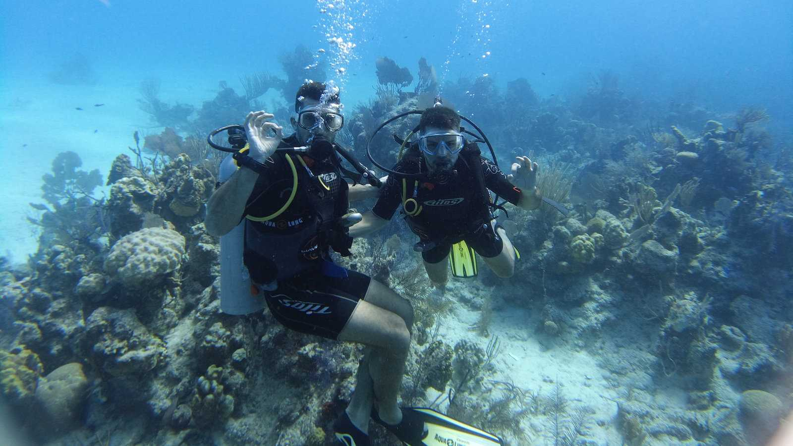 Having the time of our lives diving in the Caribbean on a gay liveaboard trip