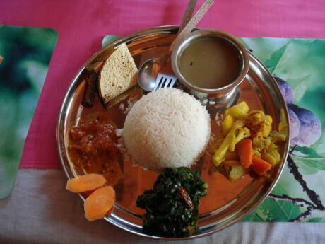 Dal bhat is a local food you should try while in Nepal