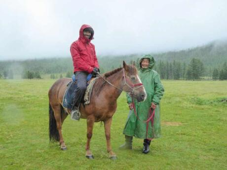 Horse riding through Mongolia's beautiful landscapes is an incredible experience