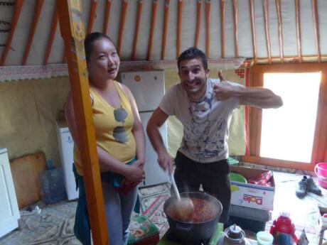 Living with a local nomadic family is a must-do experience while visiting Mongolia