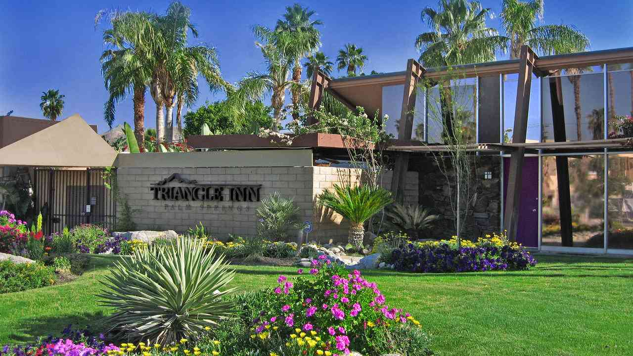 Triangle Inn is a fun and affordable gay resort in Palm Springs
