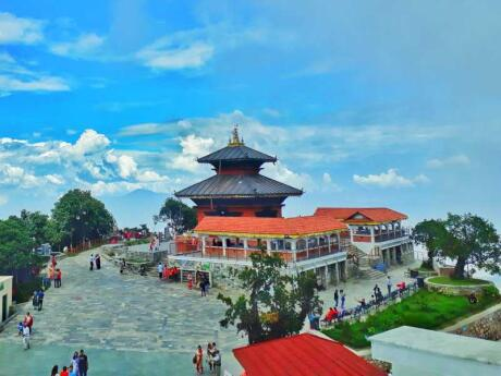The Chandragiri Hills in Kathmandu are a great spot for views of the Himalayas