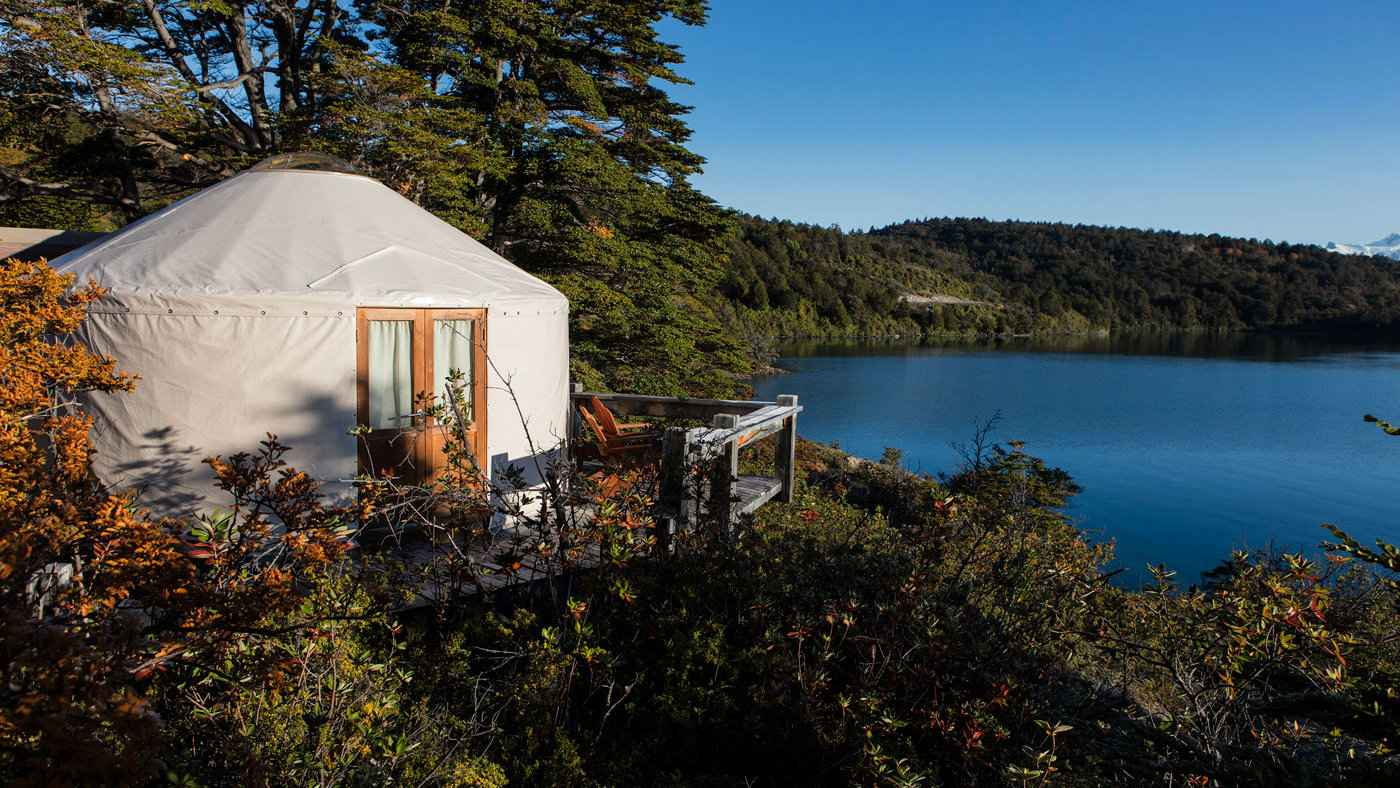 Staying in a luxury yurt at the Chile Patagonia Camp is a real highlight of our time in Patagonia