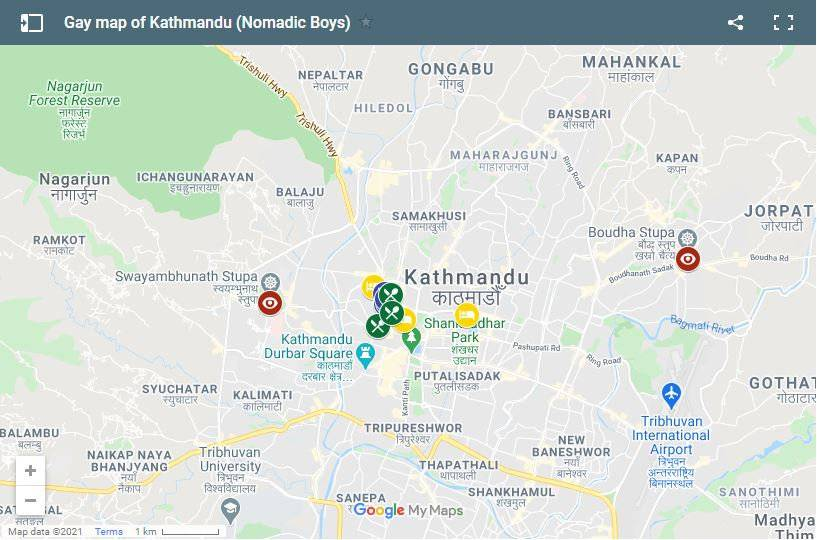 Use this gay map of Kathmandu to figure out where to eat, sleep and play in Nepal's capital