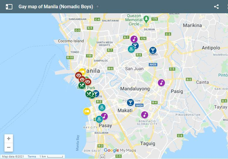 Use our gay map of Manila to plan your own fun trip to the capital of the Philippines