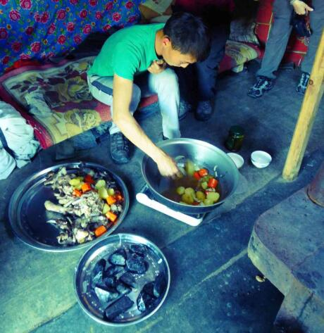 Khorkhog is a type of traditional barbecue from Mongolia that's delicious!