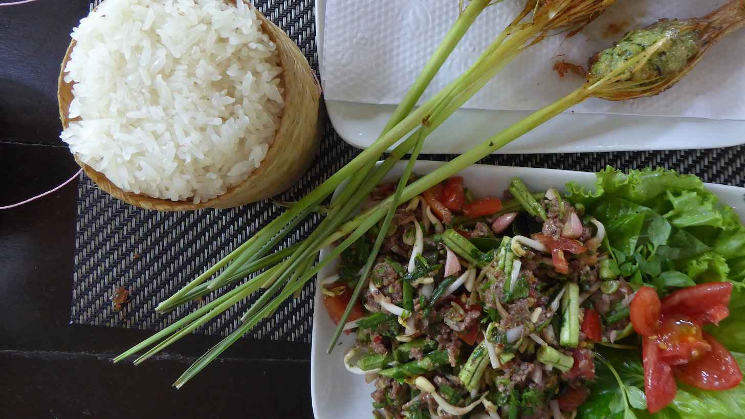 Larb is the unofficial national dish of Laos and one you will find at street food markets or restaurants in the country