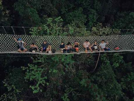 Hanging above the forest at the Masungi Georeserve is a fun activity that's only half an hour from Manila