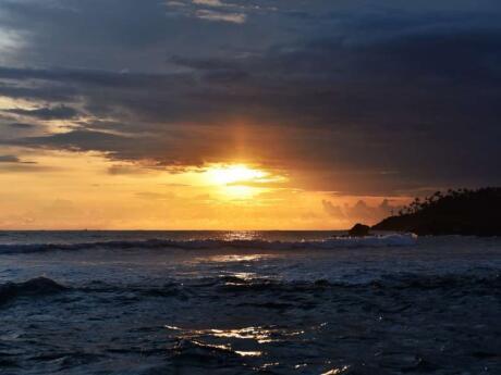 The sunsets in Mirissa, Sri Lanka are pretty stunning