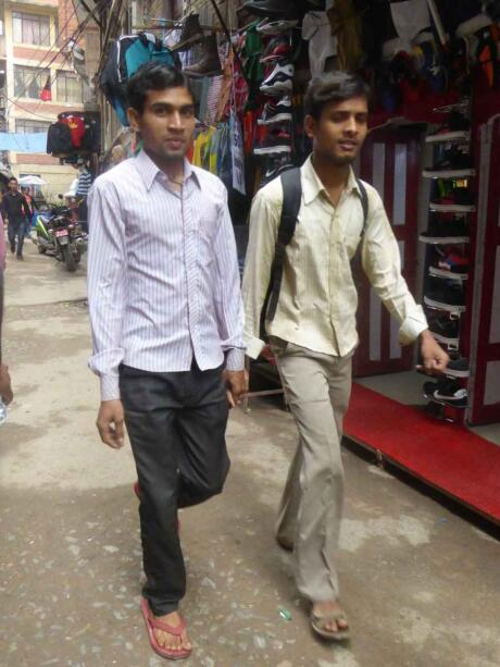 It's common to see straight male friends holding hands in Nepal