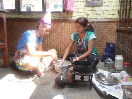 We loved learning how to cook momos and al bhat at a traditional Nepali cooking class in Kathmandu