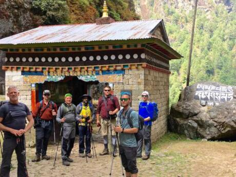 Join a gay trek to Everest base camp with the great gay company Out Adventures