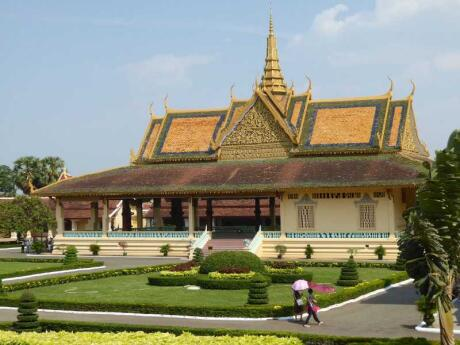 The Royal Palace in Phnom Penh is where the King lives and a site you can visit