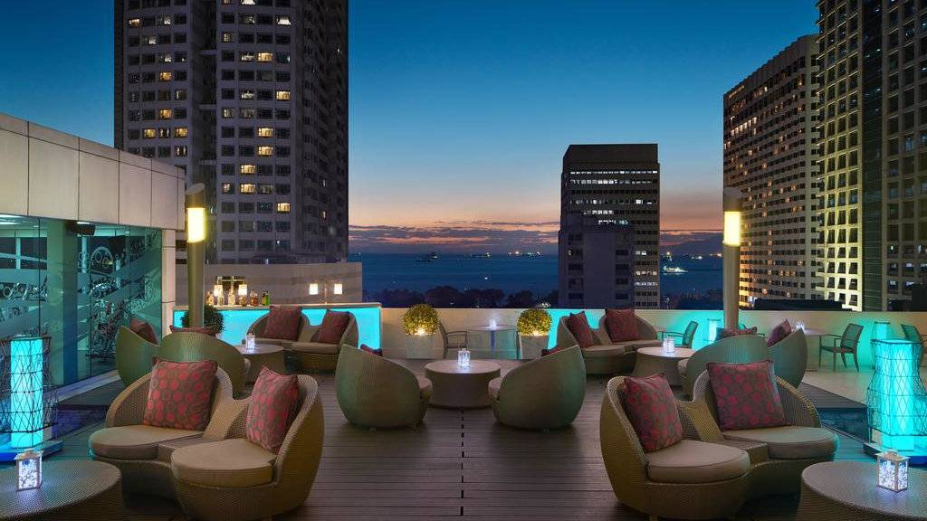 The Sheraton Manila Bay Hotel is a gay friendly establishment with a stunning rooftop bar