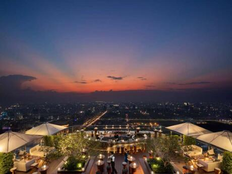 The Sora Skybar is an incredible spot for sunset cocktails in Phnom Penh
