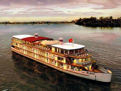 Have a sunset dinner cruise on the Mekong River during your two days in Phnom Penh