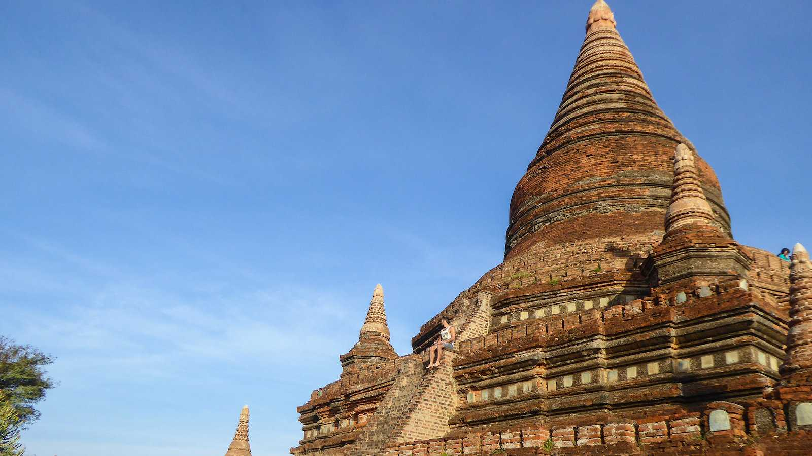 Bulethi Pagoda is a great spot for seeing both sunrise and sunset in Bagan, Myanmar