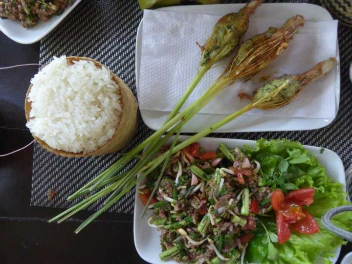 Learn how to cook Laos dishes at the Tamarind cooking school in Luang Prabang