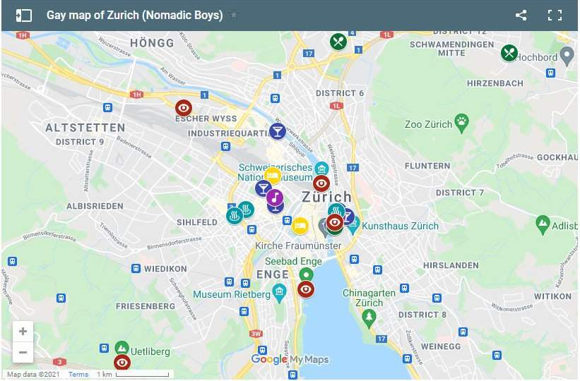 Use our gay map of Zurich to help plan your own fabulous trip