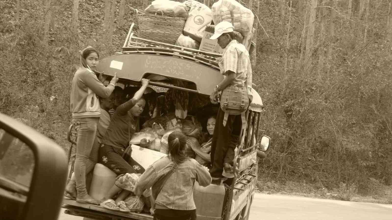 It's easy to get around Luang Prabang via tuk-tuk or minivan