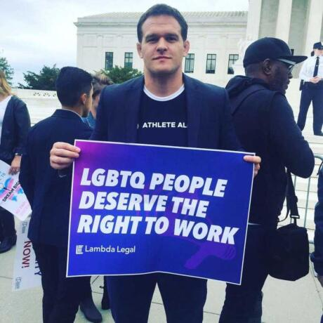 Hudson Taylor is such a great gay ally that he even started a foundation to encourage anyone to take part in sports