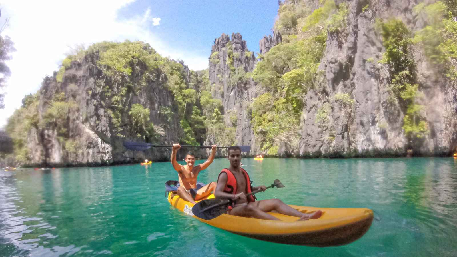Tour A from El Nido is a great mix of snorkeling, kayaking and swimming in Palawan