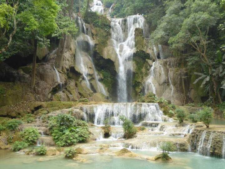 The Kuang Si Falls are just outside of Luang Prabang and the number one must-visit destination for your trip