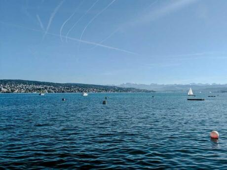 Lake Zurich is a fabulous spot for swimming or cycling right by the city