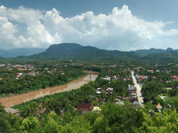 It's a small hike up Phousi Hill for gorgeous views over Luang Prabang