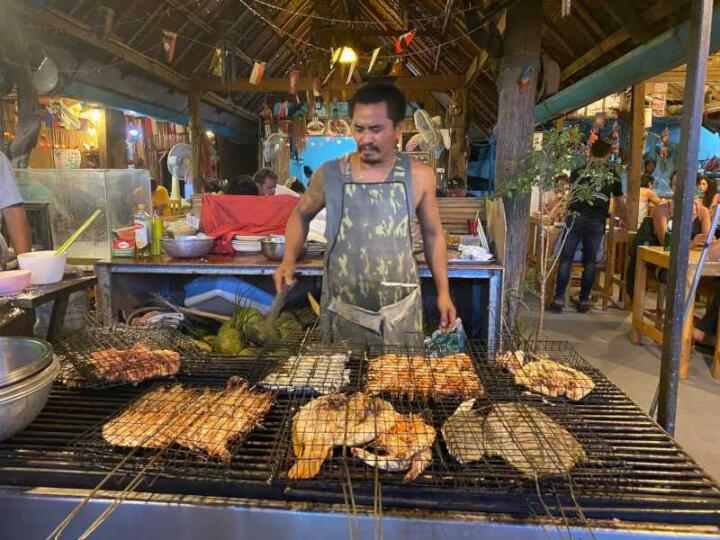 The main night market in Luang Prabang is a smorgasbord of delicious food to explore!