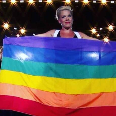 Singer P!nk is a very vocal gay ally and we love her for it