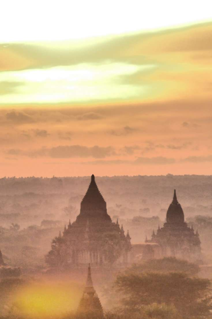 Here's our guide on the best spots in Bagan to see sunrise and sunset over the temples