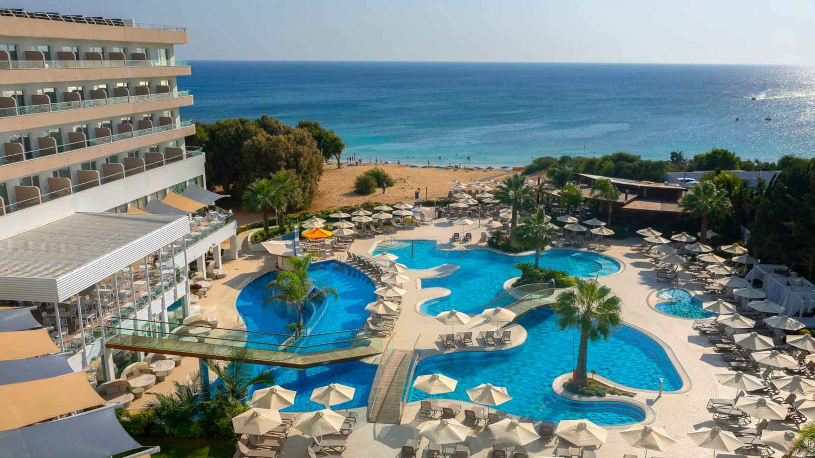 Melissi Beach Hotel and Spa is a fabulous place to stay in Cyprus if you want both beach and pool life