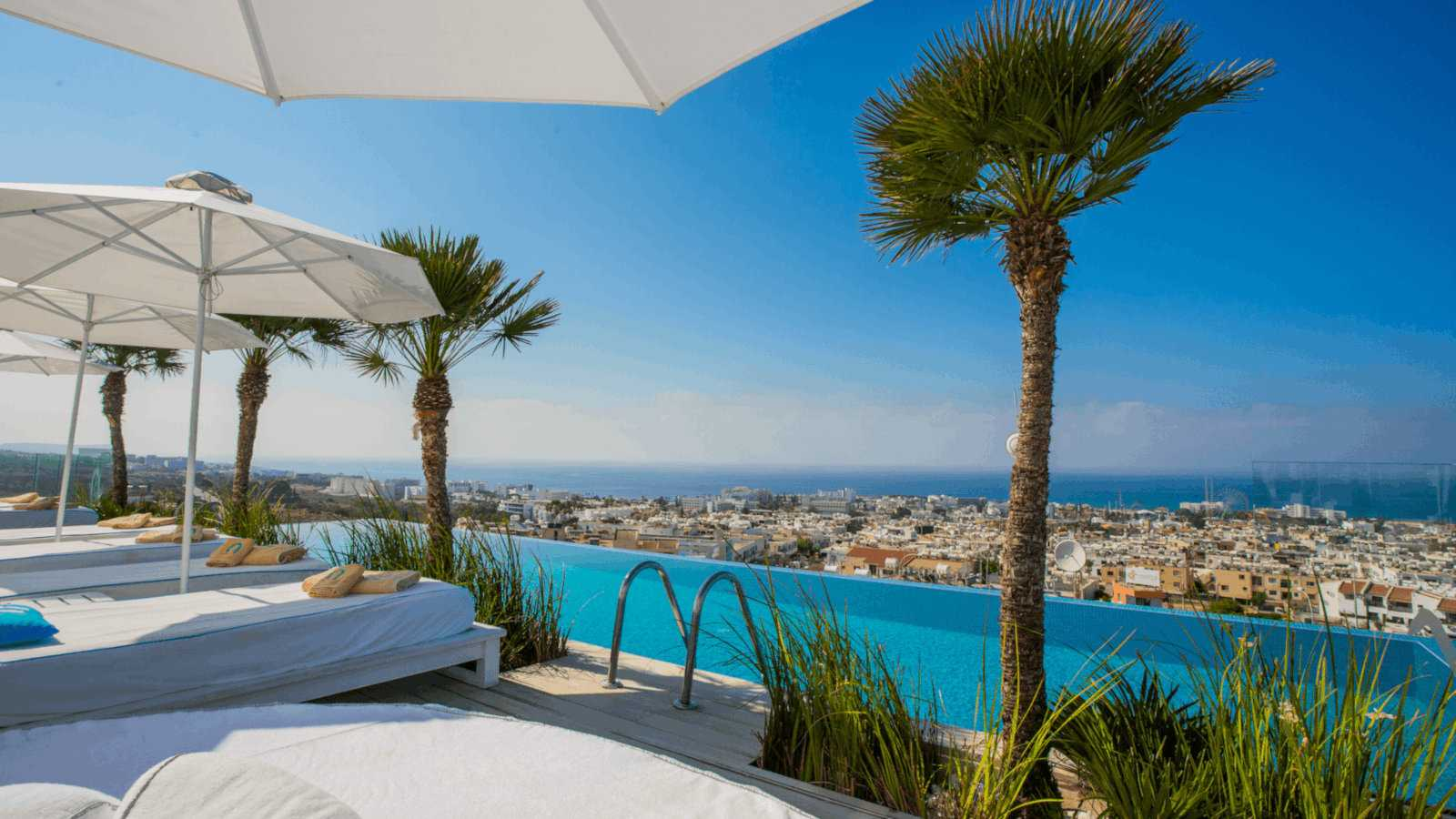 Hotel Napa Suites are adults-only and have some of the best views of Cyprus from the rooftop infinity pool