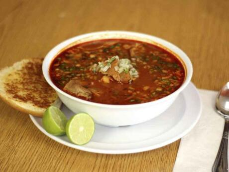 Pozole is a yummy corn and pork soup that you can try at lots of places in the Riviera Maya